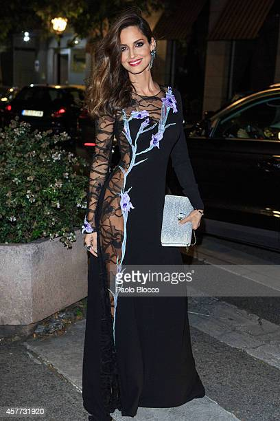 Model Ariadne Artiles is seen arriving to 'Elle Style Awards 2014' at Italian embassy on October 23 2014 in Madrid Spain
