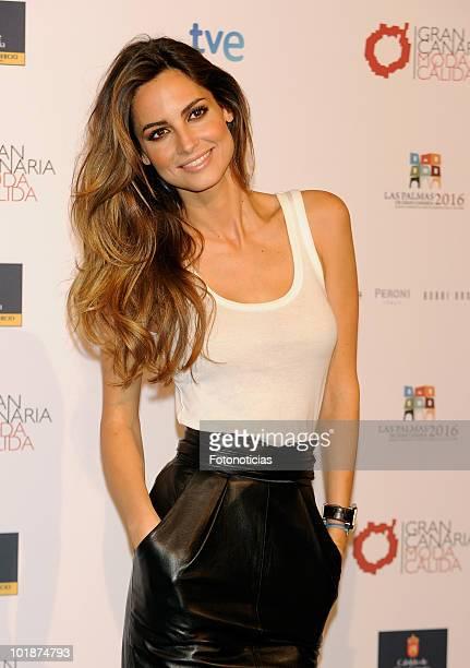 Model Ariadne Artiles promotes Gran Canaria Moda Calida at Espacio Villanueva on June 8, 2010 in Madrid, Spain