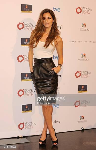 Model Ariadne Artiles promotes Gran Canaria Moda Calida at Espacio Villanueva on June 8 2010 in Madrid Spain