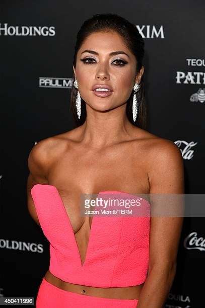 Model Arianny Celeste attends Maxim's Hot 100 Women of 2014 celebration and sneak peek of the future of Maxim at Pacific Design Center on June 10...
