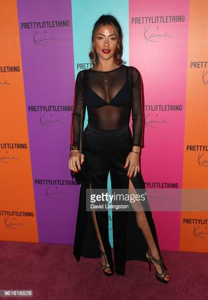 Model Arianny Celeste attends the PrettyLittleThing x Karl Kani event at Nightingale Plaza on May 22, 2018 in Los Angeles, California.
