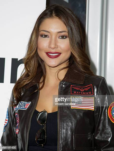 Model Arianny Celeste attends the 'Yes You Can' Halloween charity ride at SoulCycle on October 31 2015 in West Hollywood California