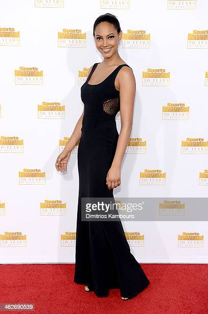 Model Ariel Meredith attends NBC and Time Inc celebrate the 50th anniversary of the Sports Illustrated Swimsuit Issue at Dolby Theatre on January 14...