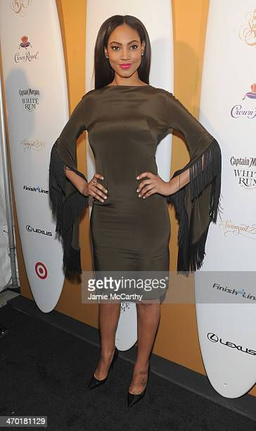 Model Ariel Meredith attends the Sports Illustrated Swimsuit 50 Years of Swim in NYC Celebration at the Sports Illustrated Swimsuit Beach House on...