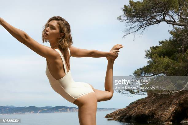Model Arizona Muse poses for Madame Figaro on May 22 2017 in La Ciotat France Swimsuit earrings CREDIT MUST READ Jimmy Backius/Figarophoto/Contour by...