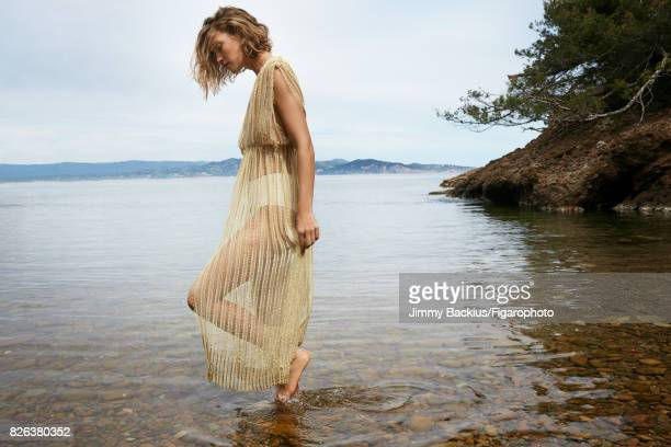 Model Arizona Muse poses for Madame Figaro on May 22 2017 in La Ciotat France Dress swimsuit bottom CREDIT MUST READ Jimmy...