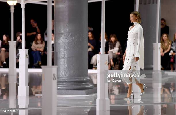Model Arizona Muse walks the runway at the Ralph Russo Spring/Summer 2018 Ready to Wear show at Old Billingsgate on September 15 2017 in London...