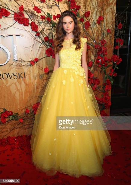 A model arrives ahead of the Beauty And The Beast Australian Premiere at State Theatre on March 9 2017 in Sydney Australia