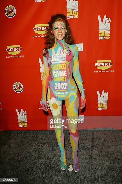 A model arrives at Spike TV's 5th Annual Video Game Awards held at Mandalay Bay Events Center on December 7 2007 in Las Vegas Nevada