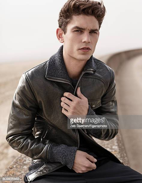 Model Arthur Gosse is photographed for Madame Figaro on June 24 2016 in Deauville France Jacket sweater and pants PUBLISHED IMAGE CREDIT MUST READ...