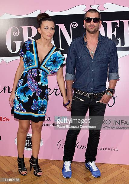 Model Asdrubal and guest attend 'La Gran Depresion' premiere at Infanta Isabel Theatre on May 19, 2011 in Madrid, Spain.