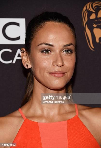 Model Asha Leo arrives at the BAFTA Los Angeles TV Tea 2015 at the SLS Hotel on September 19 2015 in Beverly Hills California
