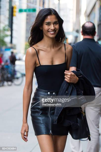 Model Ashika Pratt attends casting for the 2017 Victoria's Secret Fashion Show in Midtown on August 17 2017 in New York City