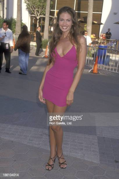 Model Ashley Degenford attends the 'American Pie' Universal City Premiere on July 7 1999 at Cineplex Odeon Universal City Cinemas in Universal City...
