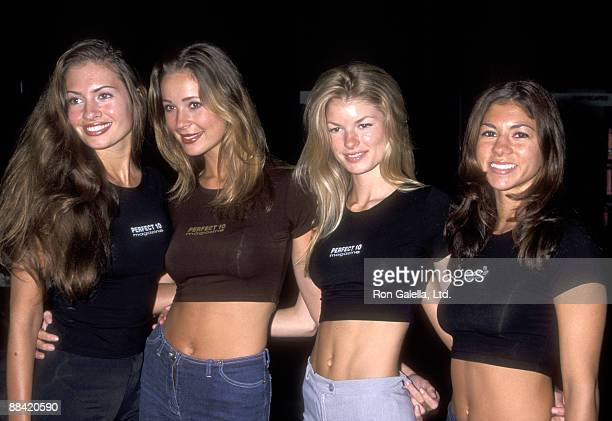 Model Ashley Degenford Model Monica Hansen Model Marisa Miller and Model Amber Rangel attend the 1999 Video Software Dealers Association Convention...
