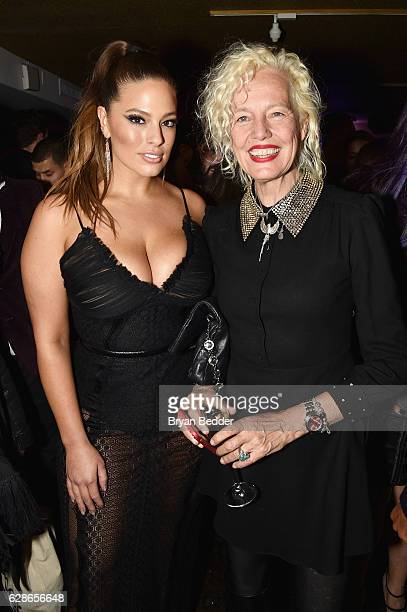 Model Ashley Graham and photographer Ellen von Unwerth attend the VH1 America's Next Top Model premiere party at Vandal on December 8, 2016 in New...