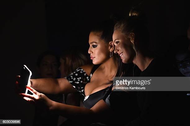 Model Ashley Graham and Tennis Player Caroline Wozniacki attends the Prabal Gurung fashion show during New York Fashion Week The Shows September 2016...