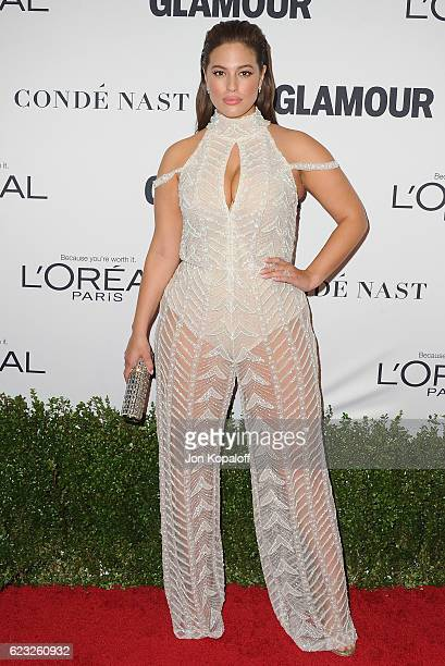 Model Ashley Graham arrives at Glamour Women Of The Year 2016 at NeueHouse Hollywood on November 14 2016 in Los Angeles California