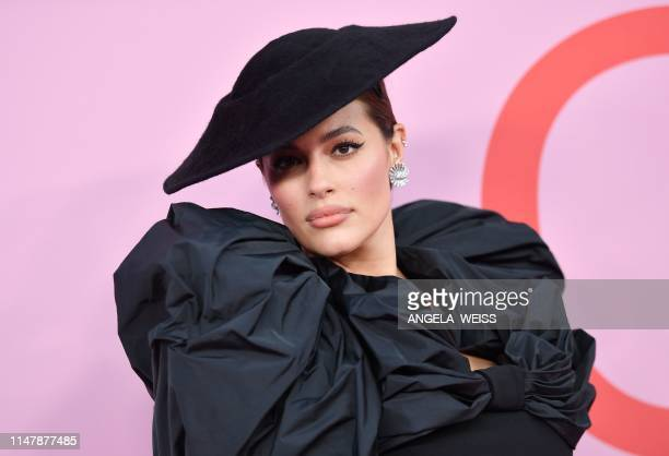 Model Ashley Graham arrives for the 2019 CFDA fashion awards at the Brooklyn Museum in New York City on June 3, 2019.