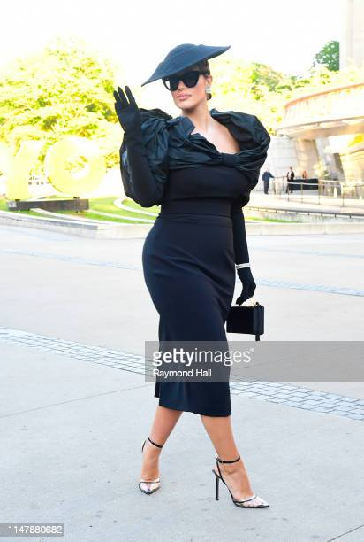 Model Ashley Graham arrives for the 2019 CFDA fashion awards at the Brooklyn Museum on June 3 2019 in New York City