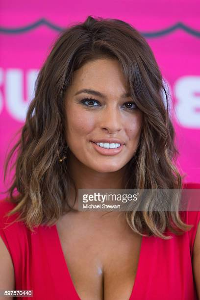 Model Ashley Graham attends 2016 Sports Illustrated Summer of Swim Fan Festival Concert at the Ford Amphitheater at Coney Island Boardwalk on August...
