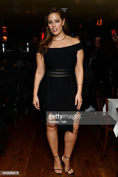 Model Ashley Graham attends a dinner party at The Beatrice Inn during IMG New York Fashion Week on February 12 2016 in New York City