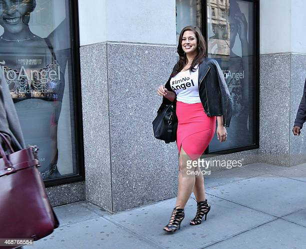 Model Ashley Graham attends as Lane Bryant celebrates the launch of their campaign #ImNoAngel on April 6, 2015 in New York City.