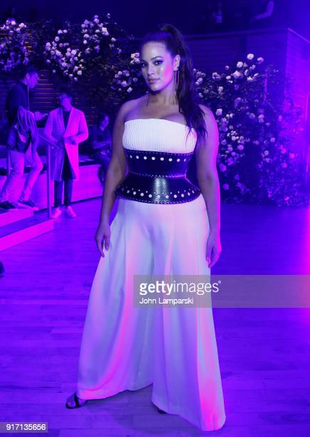Model Ashley Graham attends Brandon Maxwell show during February 2018 New York Fashion Week at Appel Room on February 11 2018 in New York City