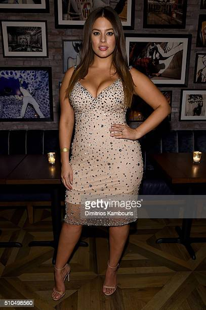 Model Ashley Graham attends IMG Models Celebrates The Sports Illustrated Swimsuit issue at Vandal on February 15 2016 in New York City