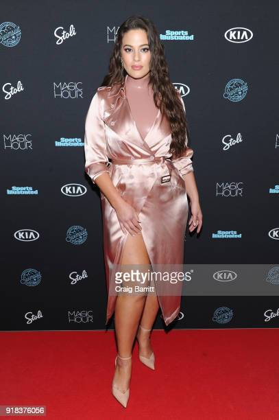 Model Ashley Graham attends Sports Illustrated Swimsuit 2018 launch event at Magic Hour at Moxy Times Square on February 14 2018 in New York City