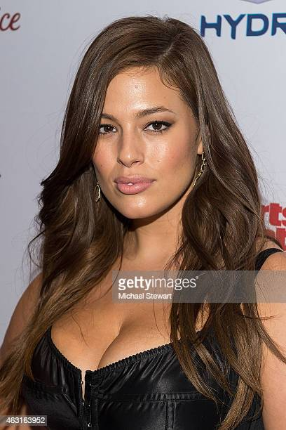Model Ashley Graham attends the 2015 Sports Illustrated Swimsuit Issue celebration at Marquee on February 10 2015 in New York City