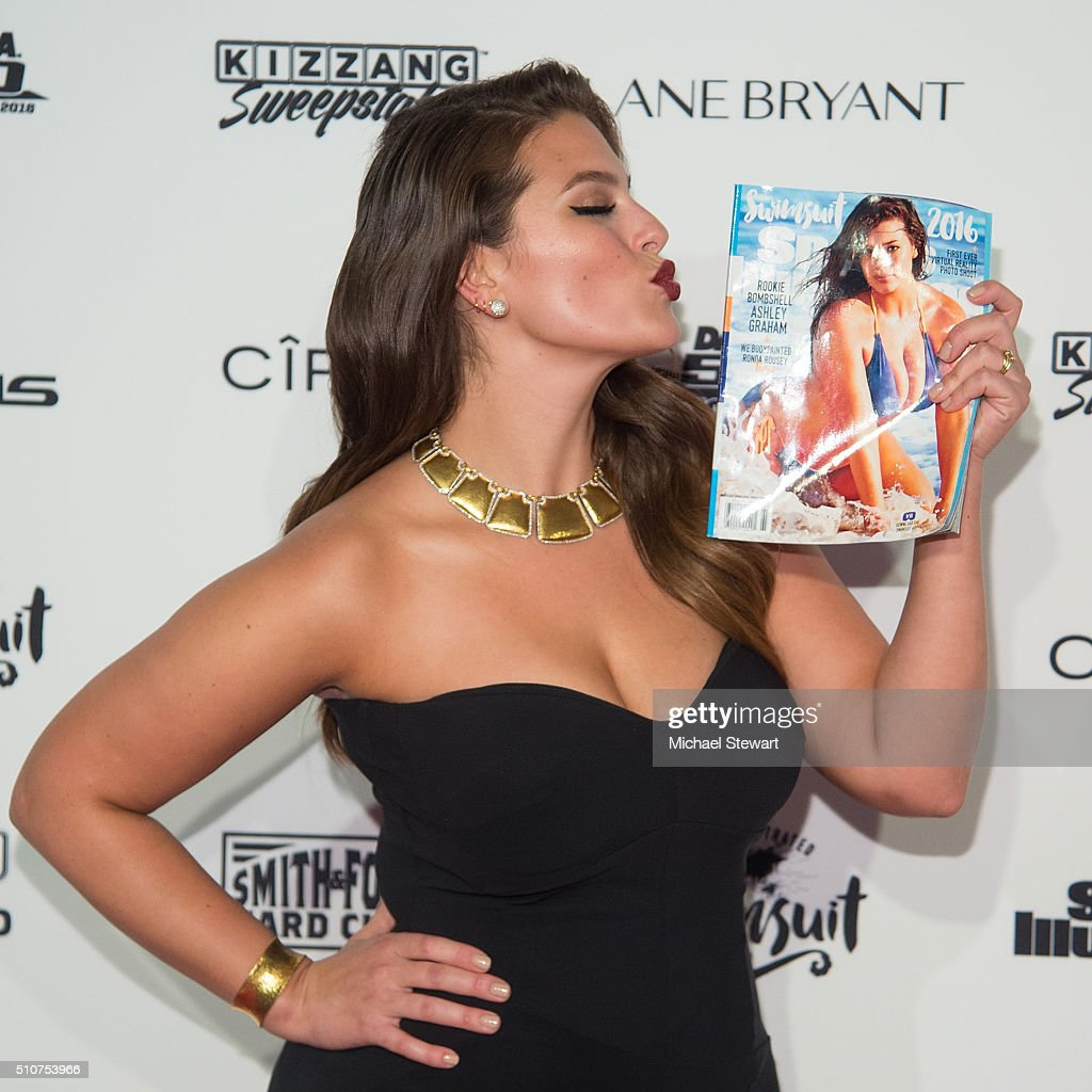 Model Ashley Graham attends the 2016 Sports Illustrated Swimsuit Launch Celebration at Brookfield Place on February 16, 2016 in New York City.
