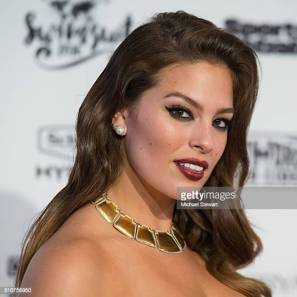 Model Ashley Graham attends the 2016 Sports Illustrated Swimsuit Launch Celebration at Brookfield Place on February 16 2016 in New York City