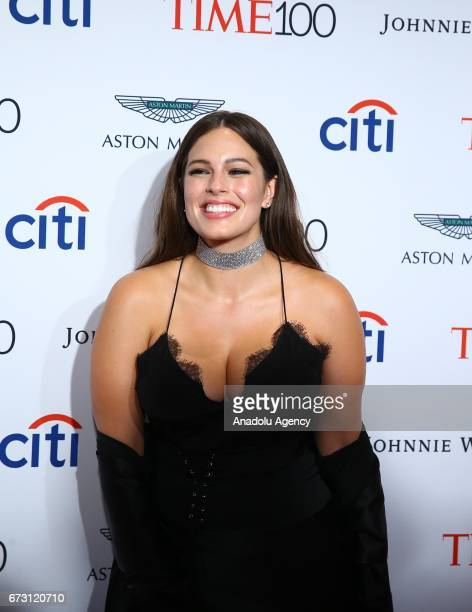 Model Ashley Graham attends the 2017 TIME 100 Gala at Jazz at Lincoln Center in New York United States on April 25 2017