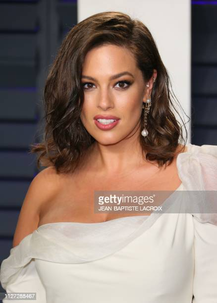 Model Ashley Graham attends the 2019 Vanity Fair Oscar Party following the 91st Academy Awards at The Wallis Annenberg Center for the Performing Arts...