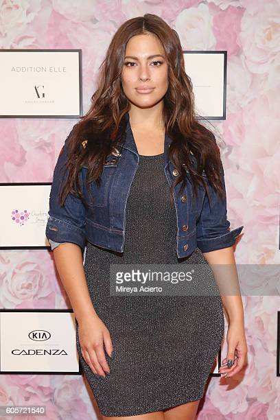 Model Ashley Graham attends the Addition Elle/Ashley Graham Lingerie Collection fashion show during the Holiday 2016 Style 360 NYFW at Metropolitan...