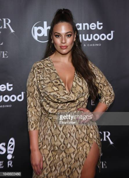 Model Ashley Graham attends the after party for the finale of the JENNIFER LOPEZ ALL I HAVE residency at MR CHOW at Caesars Palace on September 30...
