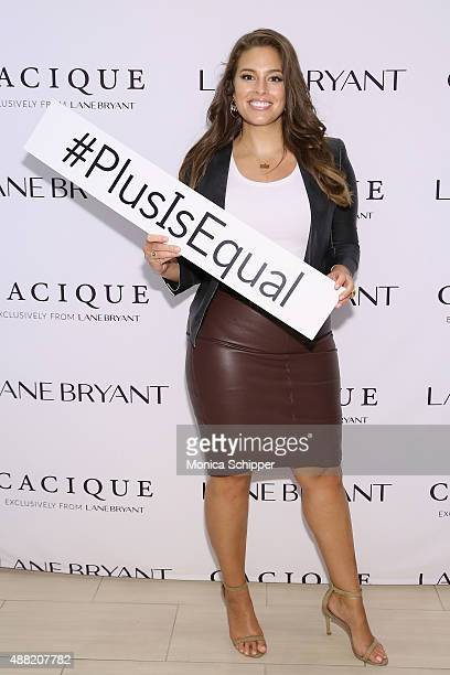 Model Ashley Graham attends the Lane Bryant launch of the #PlusIsEqual campaign at Times Square on September 14 2015 in New York City