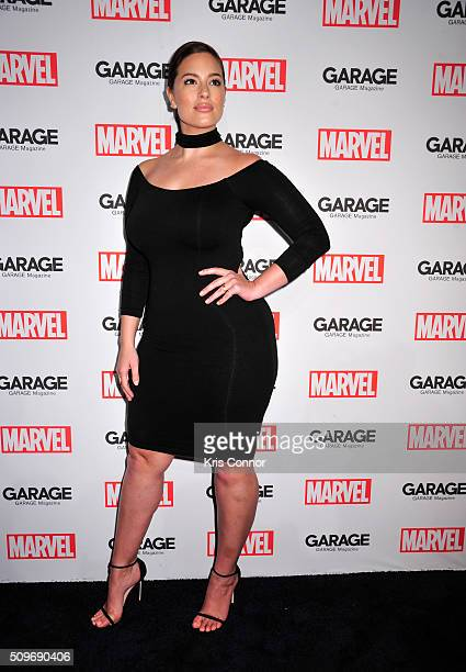 Model Ashley Graham attends the Marvel and Garage Magazine New York Fashion Week Event on February 11 2016 in New York City