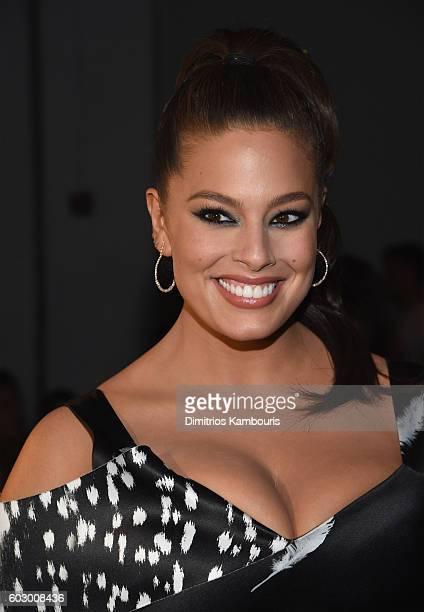Model Ashley Graham attends the Prabal Gurung fashion show during New York Fashion Week The Shows September 2016 at The Gallery Skylight at Clarkson...