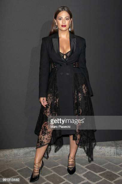 Model Ashley Graham attends the Vogue Foundation Dinner Photocall as part of Paris Fashion Week Haute Couture Fall/Winter 20182019 at Musee Galliera...
