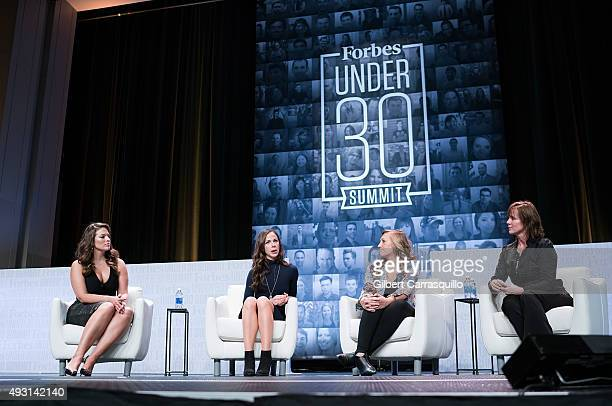 Model Ashley Graham Barbara Pierce Bush Marika Shaw and CEO of the Case Foundation Jean Case during a discussion The Pivot Using Fame and Influence...
