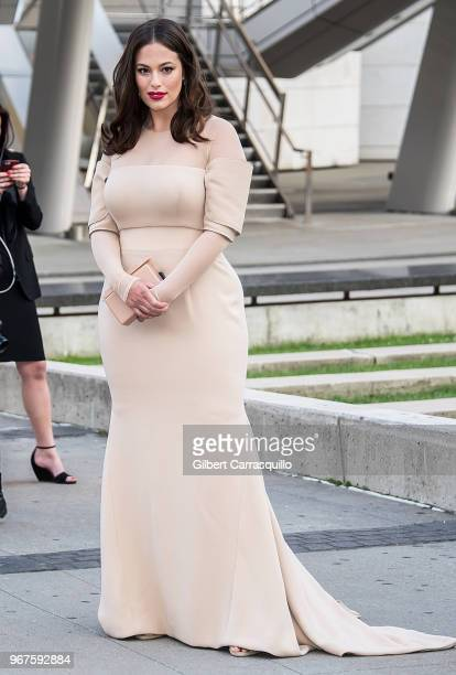 Model Ashley Graham is seen arriving to the 2018 CFDA Fashion Awards at Brooklyn Museum on June 4, 2018 in New York City.