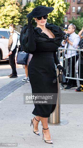 Model Ashley Graham is seen arriving to the 2019 CFDA Fashion Awards on June 3, 2019 in New York City.