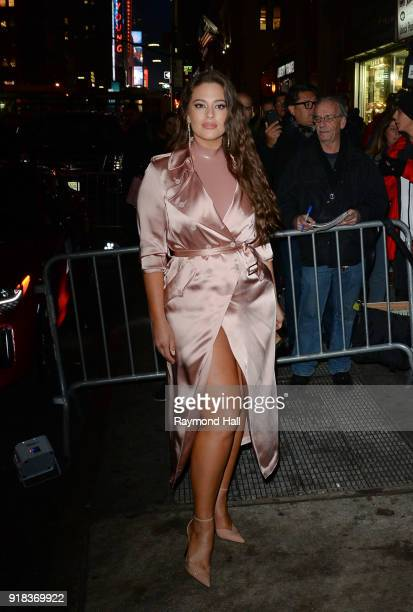 Model Ashley Graham is seen in Midtown on February 14 2018 in New York City