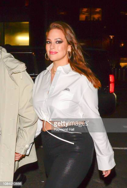 Model Ashley Graham is seen in Midtown on January 17 2019 in New York City