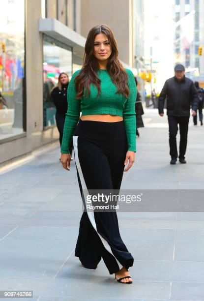 Model Ashley Graham is seen leaving the Today Show on January 24 2018 in New York City