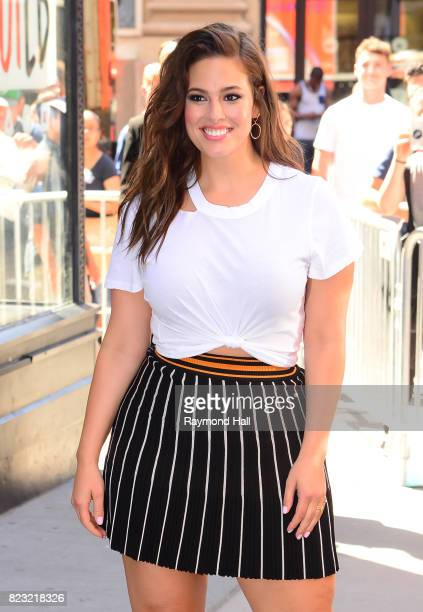 Model Ashley Graham is seen outside Aol Live on July 26 2017 in New York City