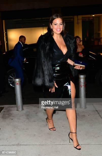 Model Ashley Graham is seen walking in Soho on November 14 2017 in New York City