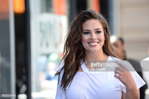 Model Ashley Graham leaves the AOL Build taping at the AOL Studios on July 26 2017 in New York City